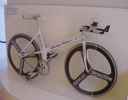 home made bike that Graeme Obree picture photograph