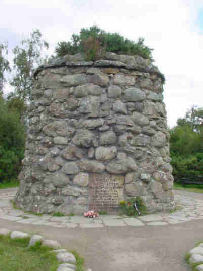 memorial cairn at culloden moor to highland clans pictures photographs