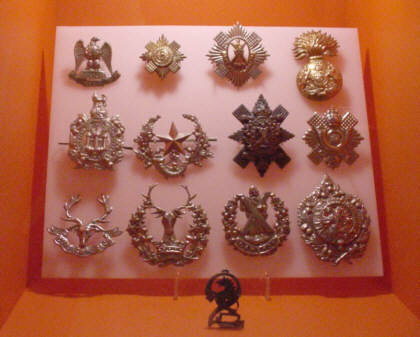 scottish regimental cap badges