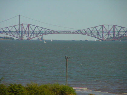 forth reail bridge near edinburgh photograph picture