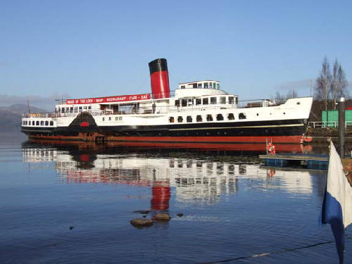 maid of the loch paddle steamer