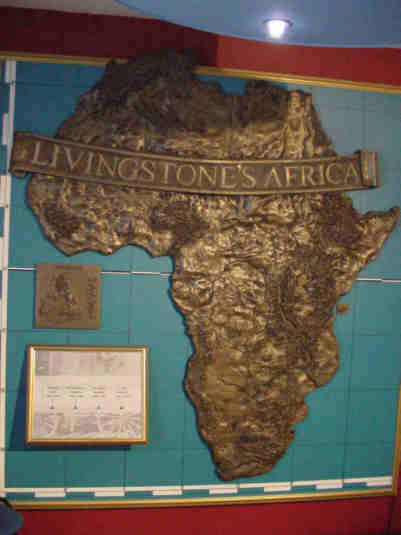map of africa in david livingstone's time