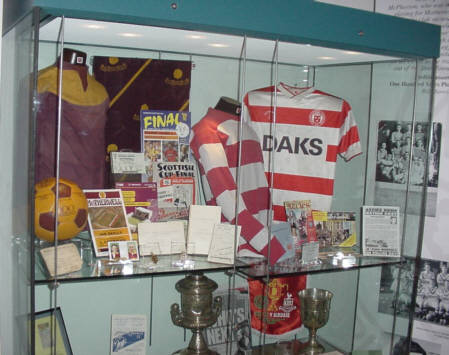 scottish historic soccer football strips motherwell and hamilton academicals strips