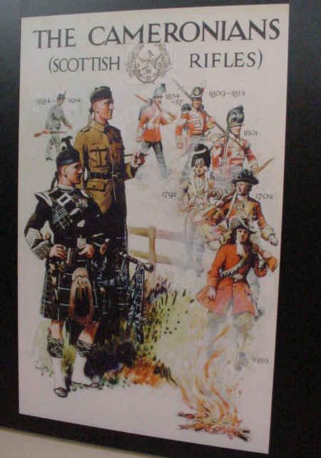scottish rifles poster regiment army scotland