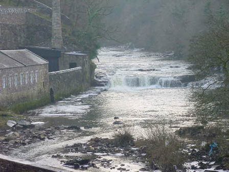 river clyde at new lanark photograph picture