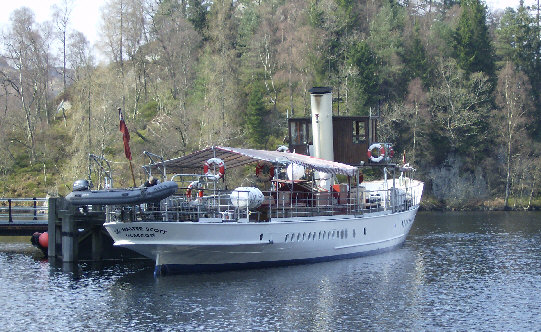 sir walter scott steamship loch katrine trossachs picture photograph